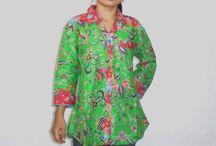 Blus Batik Primisima Hijau Pupus [1150]