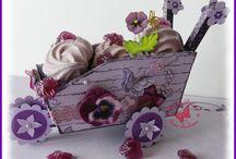 """La Ronde des Couleurs : Combo de """"Parme"""" et de """"Violet"""" / Des réalisations créées à partir de dégradés de """"violets"""" et de """"parme"""" ; photos ;..."""