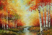 landscape paintings (oil,acrylics & textured