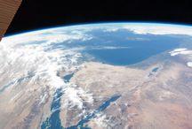 Vue de haut la planète Terre