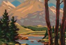 murals / ideas for woodland mural