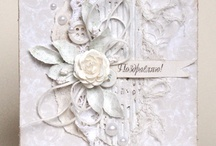 Cards | White on White / by Kerrie Gurney