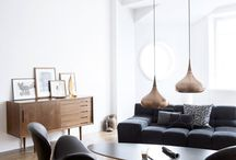 minimal vintage living room