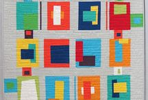 Simply Solids / Modern Quilts made ONLY with solid fabrics.