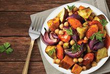roasted vegetables & chickpea salad