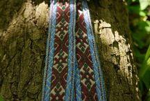 Tkané pásky, woven sashes
