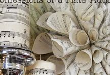 Decorating With Sheet Music