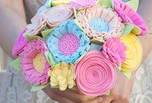 buquet felt flower