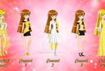 LoliRock / My OC's from LoliRock.  1. Crown Princess Rosalie of Dremis 2. Princess Cathia of Dremis