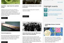 Homepages / Homepage designs - inspiration and different unis