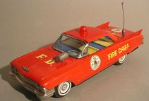 Fire Chief Cars - Tin Toy & Diecast / Tin Toy Cars - Fire Chief - Model Cars + Full Size Cars
