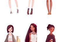 Snow white clothes