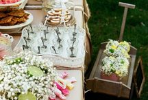 Chic vintage dessert tables