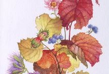 цветочные полосы( роспись стен)