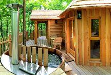 Cabanes dans les arbres / Nos Cabanes dans les arbres, en Picardie (Les Cabanes des Grands Chênes) et en Franche-Comté (Les Cabanes des Grands Lacs)