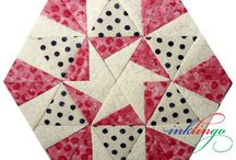 inklingo pieced hexagons