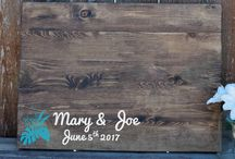 engraved wedding guestbooks