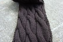 knit pattern scarf hat kardigan
