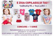 CONCURS – 1 Iunie / Hainute Animate lanseaza un nou Concurs, cu ocazia zilei copilului, ce va avea loc in perioada 07- 31 mai 2014. Poti castiga unul din cele 3 Voucere in valoare totala de 700 lei. Detalii pe www.hainuteanimate.ro