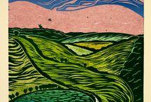 art: prints - woodcut, linocut