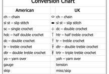 Crochet terms conversion chart