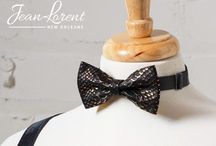 Jean Lorent Bow Ties / These unique and eye-catching leather bow ties are handcrafted with high quality leather, and suits a variety of styles from a casual look with a simple tee to formal wear.