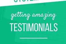 Site - how to get testimonials