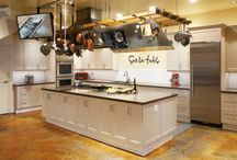 Our Project: Sur La Table  / We are the exclusive builders for all cabinets at the Sur La Table retail stores at any location that has a cooking demonstration kitchen. Most recently we completed their newest location in La Jolla located at 7643 Girard Ave, La Jolla, CA 92037.