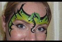 Dragons, Dinosaurs & Monsters face painting