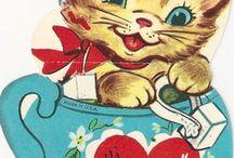 Vintage valentin-napi kártyák