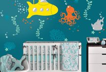 Ocean/Nautical Wall Decals / In An Instant Art™ Vinyl Wall Decals are unique designs that bring your rooms to life.   From nature settings, transportation themes and whimsical creatures, we offer wall decals that can be placed in your baby nursery, living room or any space where you want to add joyfulness to the walls.  Our products are taking walls from ordinary to extraordinary in an instant.