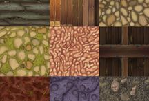 Rock surfaces and stone items