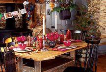 Деревенское рождество кухни