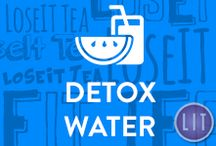 Detox Water / Detox water is the latest diet craze to take off in recent years, and it's more than just a mere fad. Drinking infused detox water is the best way to detox your body and lose weight.