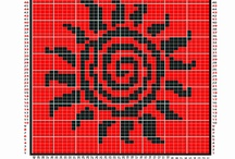 Geometric charted patterns.. / geometric shapes. designs, charted on graph paper