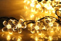 solar fairy light / LTE Solar Fairy Lights, 50 Leds, 23ft ,  Outdoor Waterproof Blossom String Lights, Ideal for , Gardens, Lawn, Patio, Christmas, Weddings, Parties.