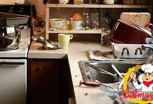 Cara Mudah Membersihkan Dapur Yang Kotor Dengan Cepat, Cara Membersihkan Dapur Yang Kotor