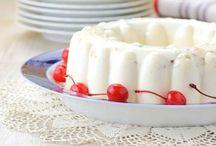 gelatina de yogurt.