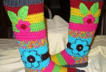 Ladies Bohemian Felted Booties / Crochet Pattern