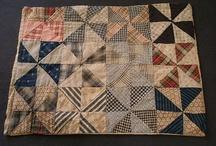 Antique quilts: Pinwheels, Hourglass / Старинные квилты: Вертушки, Песочные часы