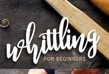 Whittling wood