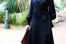 Black on Black always wins / Wrap top and full skirt!