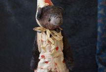 Купить Старый цирк. Клоун-мишка, по имени Бо - коричневый, мишка тедди,
