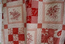 Red work - quilts