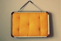 suitcase noticeboard