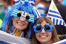 Gafas de fantasía. / Las gafas son un complemento muy importante de moda, como se puede ver en el Mundial de Brasil.
