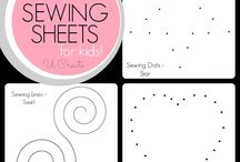 Practice sewing sheets
