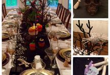 """""""Spooctacular"""" Halloween Dinner Party / Halloween doesn't have to just be for kids.  Impress your grown up friends with this festive, fun and spooky dinner party.   Here are some how to details on the table setting, cocktail, and floral arrangement"""