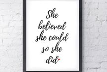 Typography Prints and Wall Art / A selection of personalised typography prints, baby prints, quote prints, printable wall art for a variety of special occasions