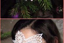 Maska na szydełku